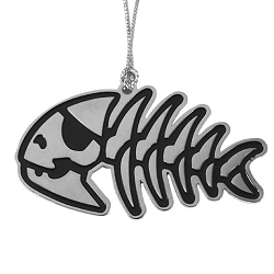 Jolly Pirate Fish Metal Holiday Ornament