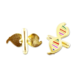 DNA with Color Gold Cufflinks - 1