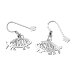 EvolveFish Cutout Earrings - 3/4