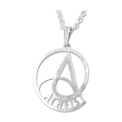 Nautilus Circle Atheist Necklace - 7/8