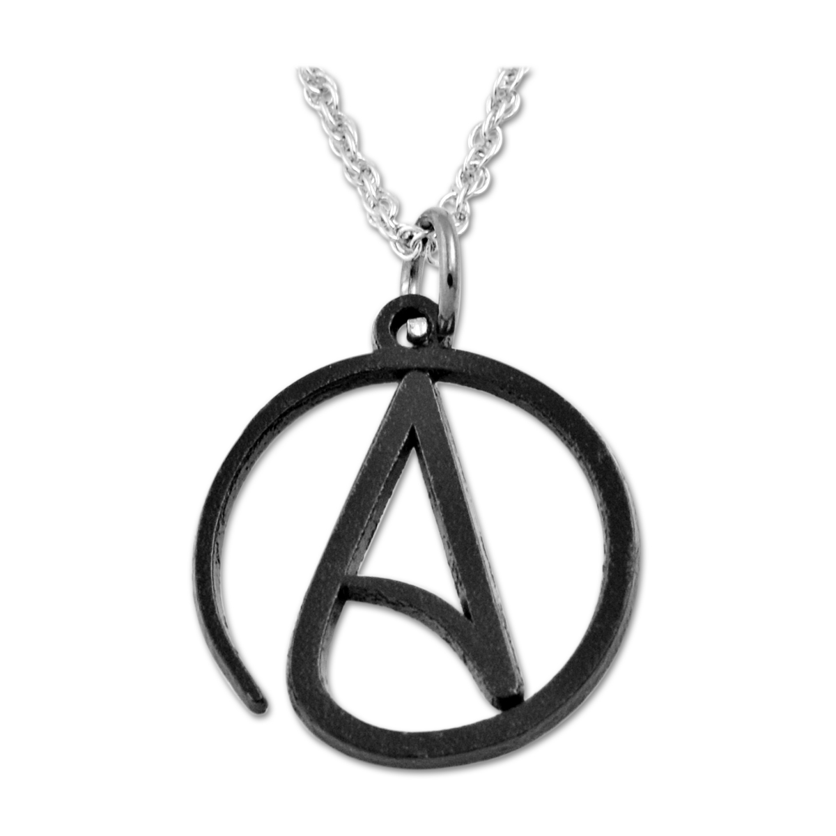 Circle atheist necklace 1 diameter quick view aloadofball Choice Image