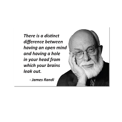 There is a Distinct Difference ... - James Randi Magnet