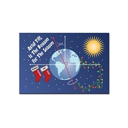 Axial Tilt Holiday Magnet