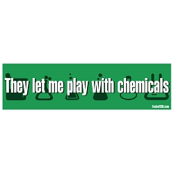 They Let Me Play With Chemicals Bumper Sticker 11