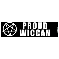 Proud Wiccan Bumper Sticker 11