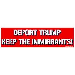Deport Trump Keep The Immigrants Bumper Sticker 11