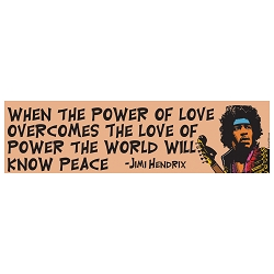 Power Of Love Bumper Sticker 11