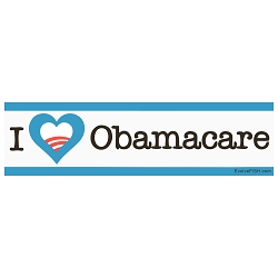 I Heart Obama Care Bumper Sticker 11