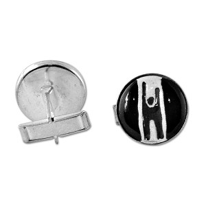 "Humanist Ceramic Cufflinks - 3/4"" Diameter"