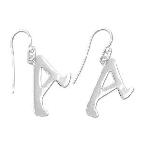 "Dawkins A for Atheist Earrings - 3/4"" Tall"