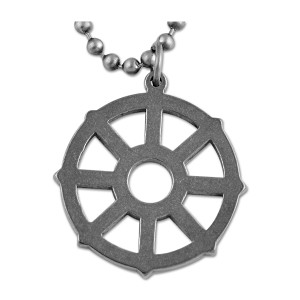 "Buddhist Wheel Necklace - 1"" Diameter"