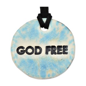 "God Free Ceramic Necklace - 1.75"" to 2.175"" Diameter"