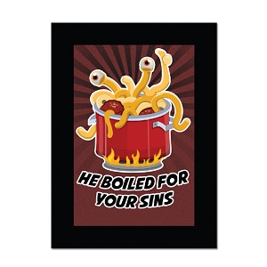 Flying Spaghetti Monster He Boiled for Your Sins Magnet