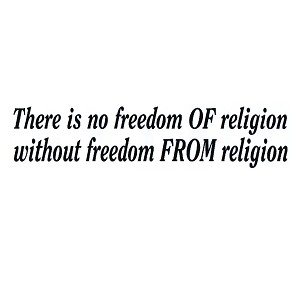 "There Is No Freedom Of Religion Bumper Sticker 11"" x 3"""