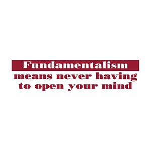 "Fundamentalism Definition Bumper Sticker 11"" x 3"""