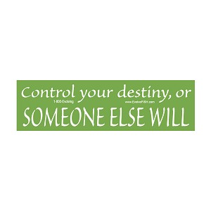"Control Your Destiny Bumper Sticker 11"" x 3"""