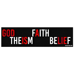"God Is A Lie Bumper Sticker 11"" x 3"""