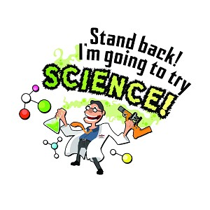 "Stand Back I'm Going To Try Science Bumper Sticker 3.5"" x 3"""