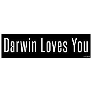 "Darwin Loves You Bumper Sticker 11"" x 3"""