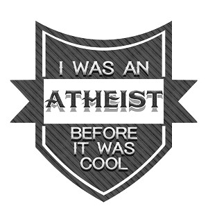 "I Was An Atheist Before It Was Cool Bumper Sticker 5"" x 4.5"""
