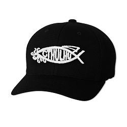Cthulhu Fish Embroidered Flexfit Adult Cool & Dry Piqué Mesh Cap Hat