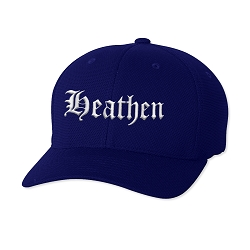 Heathen Embroidered Flexfit Adult Cool & Dry Piqué Mesh Cap Hat
