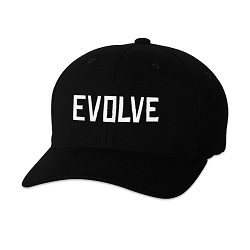 Evolve Embroidered Flexfit Adult Cool & Dry Piqué Mesh Cap Hat