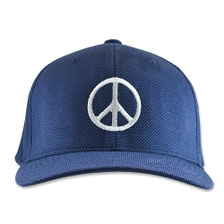 Peace Symbol Flexfit Adult Cool & Dry Piqué Mesh Cap Hat