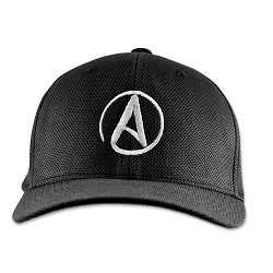 Circle A for Atheist Flexfit Adult Cool & Dry Piqué Mesh Cap Hat