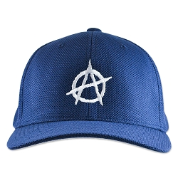 Anarchy Symbol Flexfit Adult Cool & Dry Piqué Mesh Cap Hat