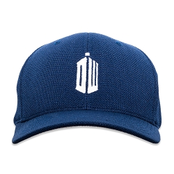 DW Police Box Silhouette Embroidered Flexfit Adult Cool & Dry Sport Cap Hat