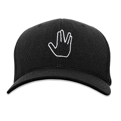 ST Live Long and Prosper Vulcan Salute Flexfit Adult Cool & Dry Piqué Mesh Cap Hat