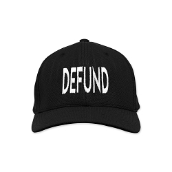Defund Embroidered Flexfit Adult Cool & Dry Sport Cap Hat