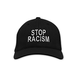 Stop Racism Embroidered Flexfit Adult Cool & Dry Sport Cap Hat