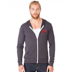 Rebel Symbol Triblend Full-Zip Lightweight Hoodie
