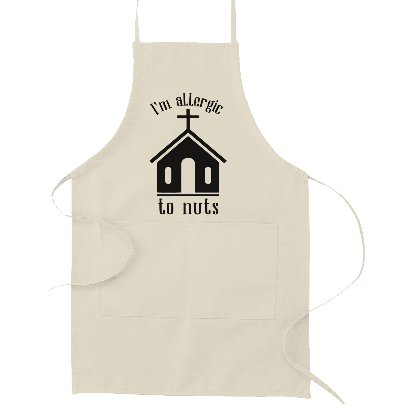 I'm Allergic to Nuts Church Kitchen Apron