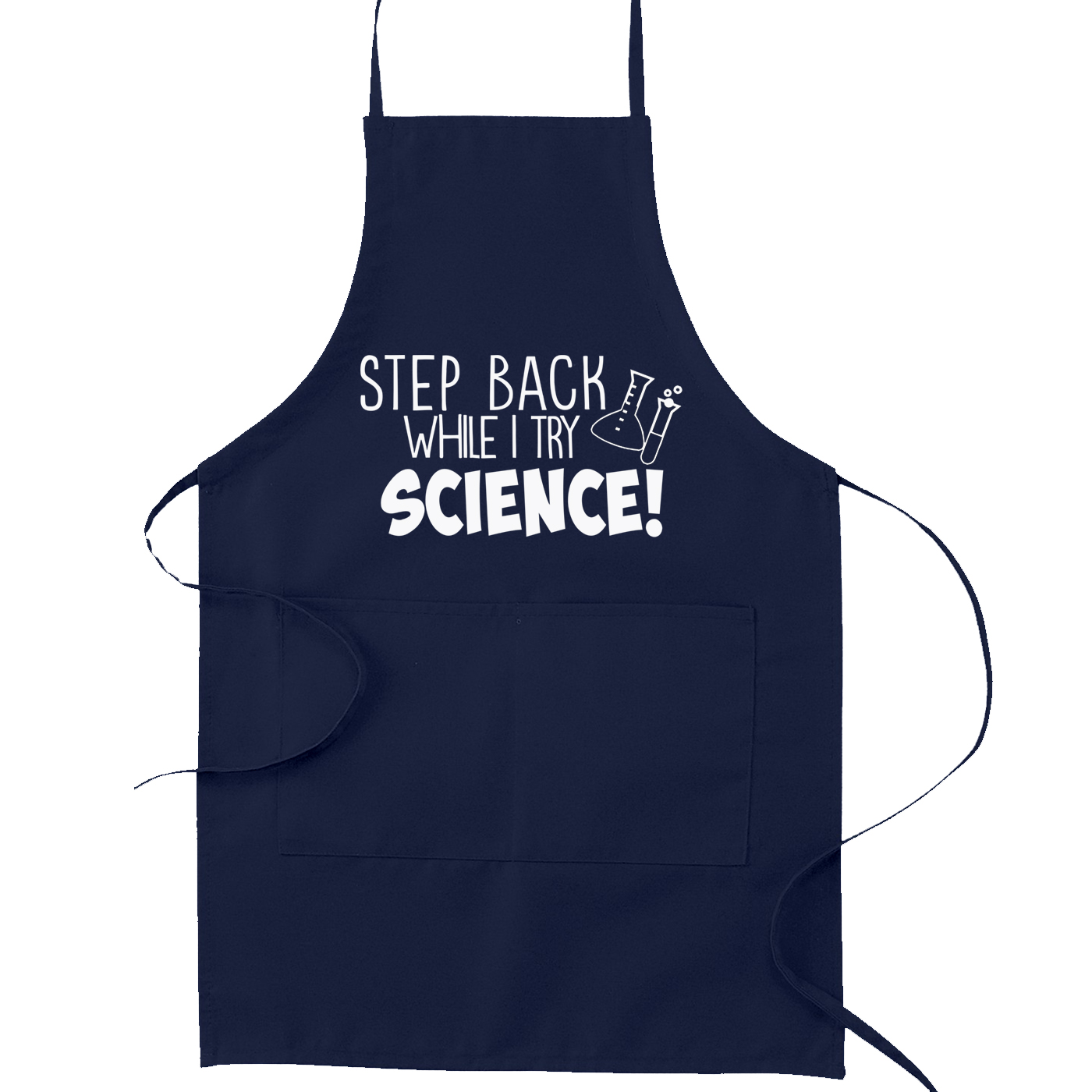 Step Back While I Try Science Kitchen Apron