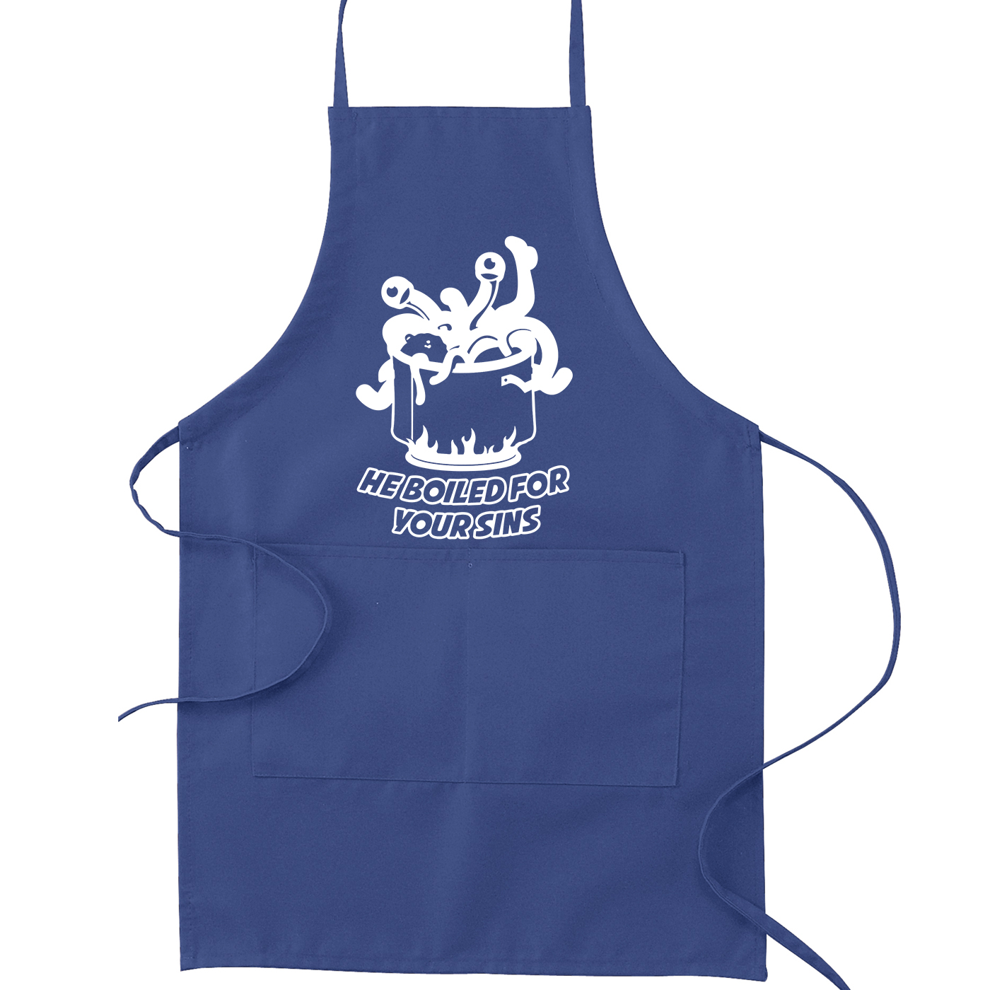 FSM Flying Spaghetti Monster He Boiled for Your Sins Kitchen Apron