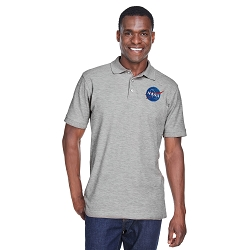 NASA Space Symbol Men's 5 oz. Blend-Tek Polo