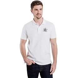 Atom Symbol Men's 5 oz. Blend-Tek Polo