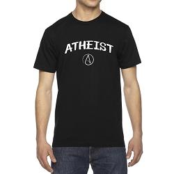 Circle A for Atheist Men's Cotton Crew Neck T-Shirt