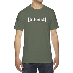 Atheist Brackets Men's Cotton Crew Neck T-Shirt