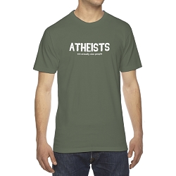 Atheists are Actually Nice People Men's Cotton Crew Neck T-Shirt