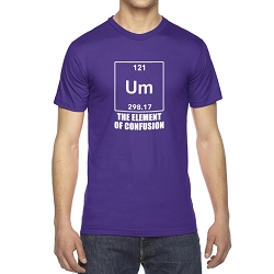 UM the Element of Confusion Men's Cotton Crew Neck T-Shirt
