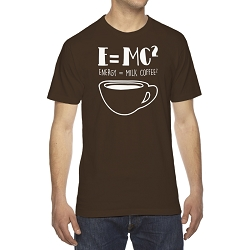 E=MC2 Energy Milk Coffee Men's Cotton Crew Neck T-Shirt