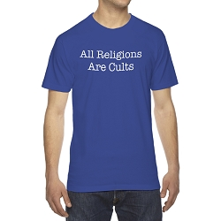 All Religions Are Cults Men's Cotton Crew Neck T-Shirt