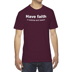Have Faith in Science and Reason Men's Cotton Crew Neck T-Shirt
