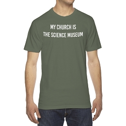 My Church is the Science Museum Men's Cotton Crew Neck T-Shirt
