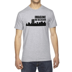 Imagine No Religion Twin Towers Men's Cotton Crew Neck T-Shirt