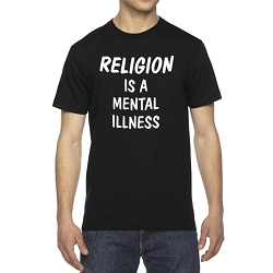 Religion is a Mental Illness Men's Cotton Crew Neck T-Shirt